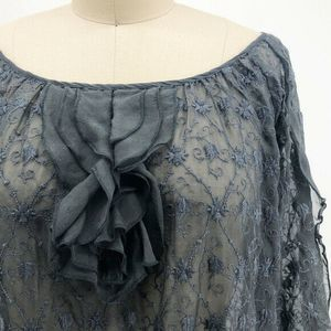 Johnny Was Tops - Johnny Was 4 LOVE AND LIBERTY Shirt Silk Lace